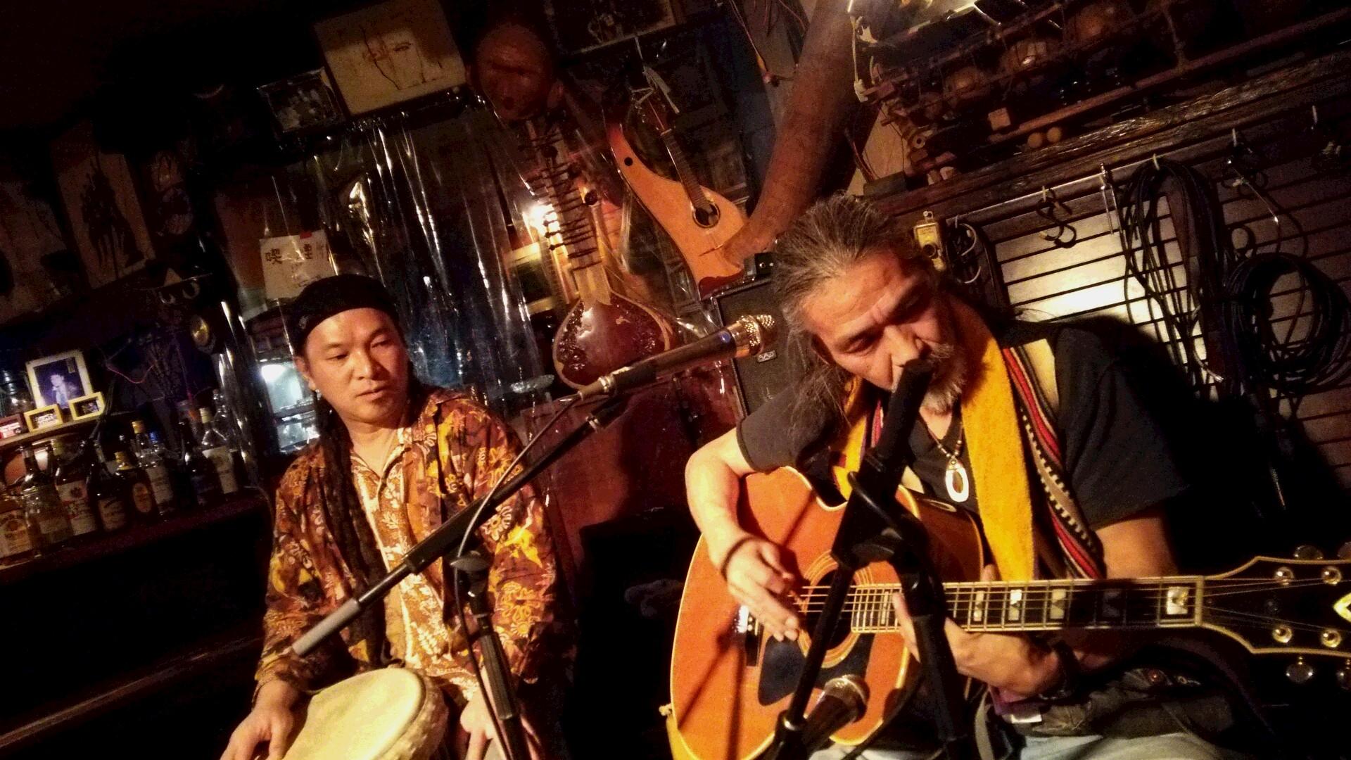 3/17(木)魅酒健太郎+ながはら元+広瀬波子で江古田倶楽部でライブでした!