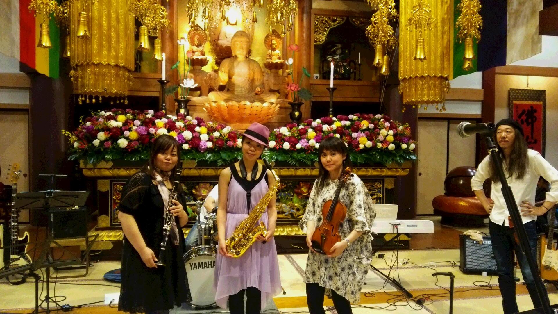 GW最終日~5/8(日)東光寺にてYAMATOバンドでした!