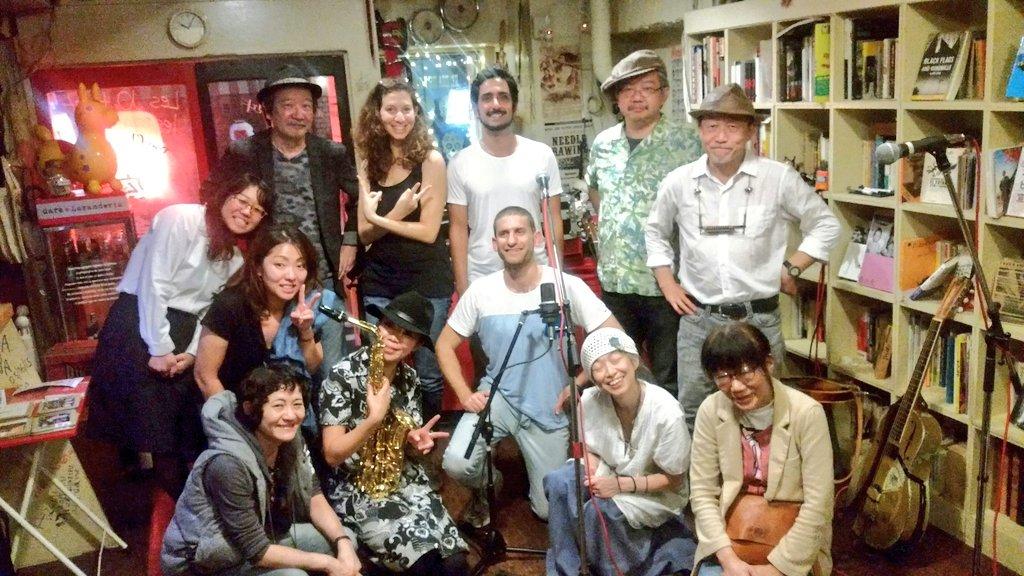 9/23(金)新宿カフェラバンテリア★シバさんと、あおやぎとしひろwith kumiko feat.広瀬波子でした!